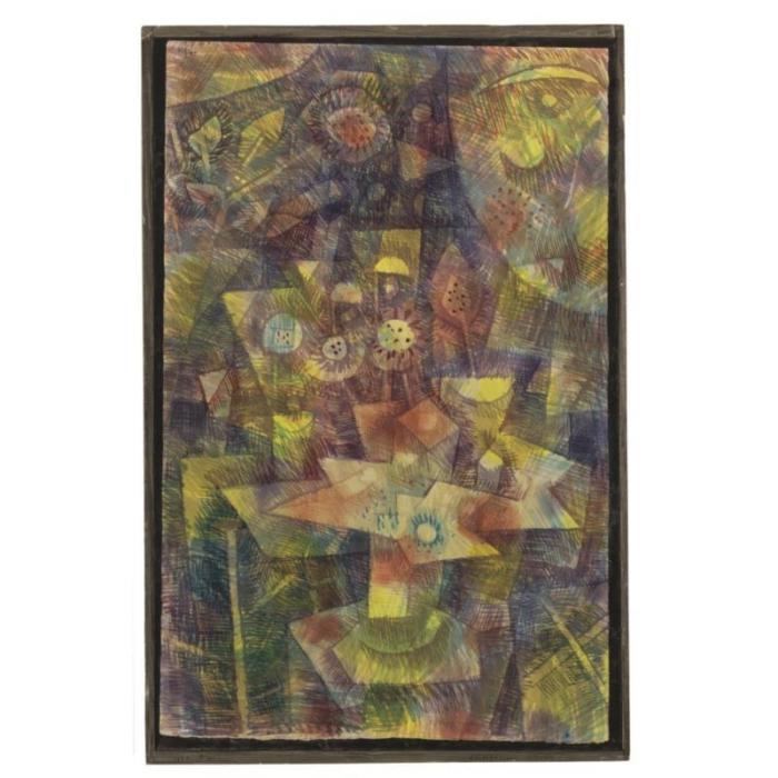 Paul Klee-Herbstblumen Stilleben (Still Life With Autumn Flowers)-1925