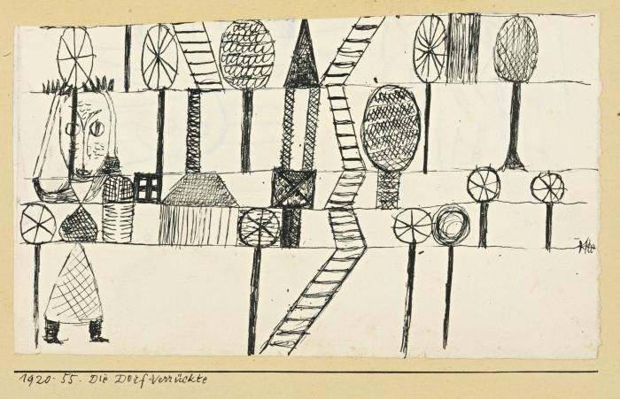 Paul Klee-Die Dorf-Verruckte (The Village Madwoman)-1920