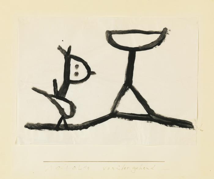 Paul Klee-Voruber-Gehend (Passing By)-1940