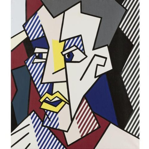 Roy Lichtenstein-Male Head-