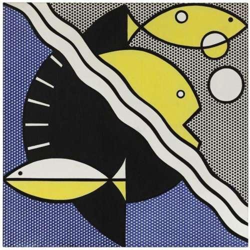 Roy Lichtenstein-Modern Painting with Fishes-