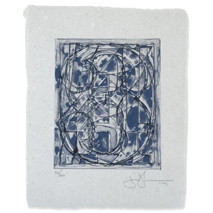Jasper Johns-0 Through 9 (Ulae 189; G. 780)-1978