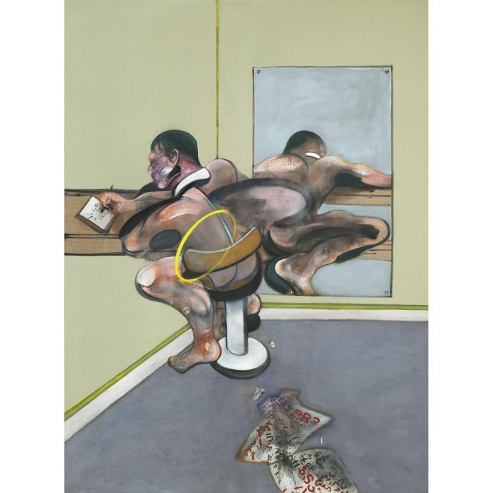 Francis Bacon-Figure Writing Reflected In Mirror-1976