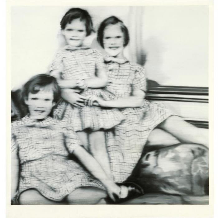 Gerhard Richter-Drei Geschwister (Three Sisters)-1965