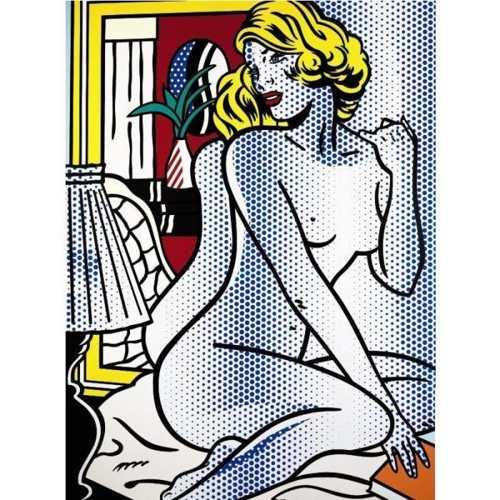 Roy Lichtenstein-Blue Nude-1995