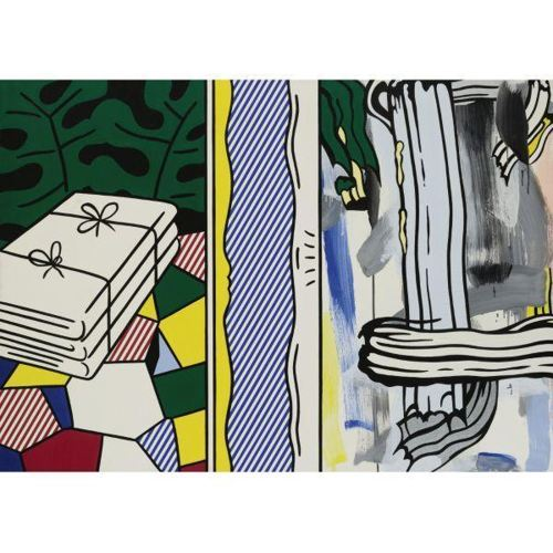 Roy Lichtenstein-Two paintings: Folded Sheets-1983