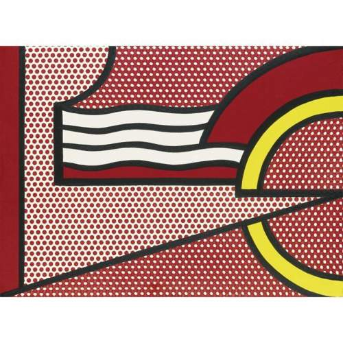 Roy Lichtenstein-Modern Painting with Yellow Arc-1967