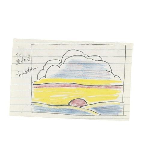 Roy Lichtenstein-Untitled (Drawing for Sinking Sun)-1964