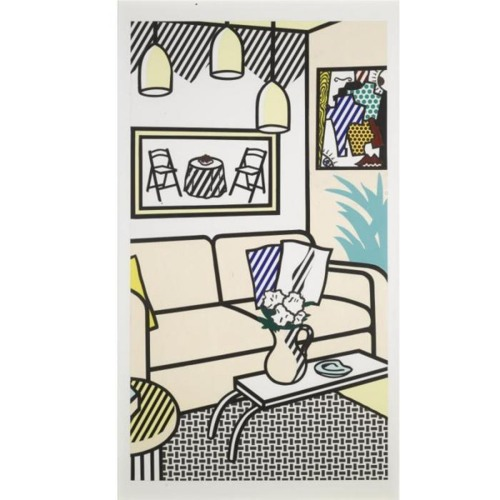 Roy Lichtenstein-Interior with Three Hanging Lamps-1991