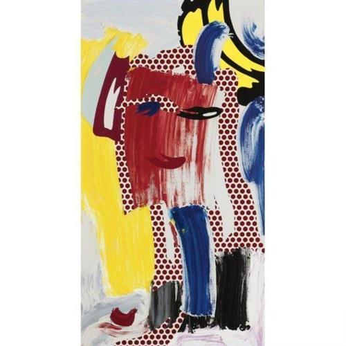 Roy Lichtenstein-Face (Red)-1986