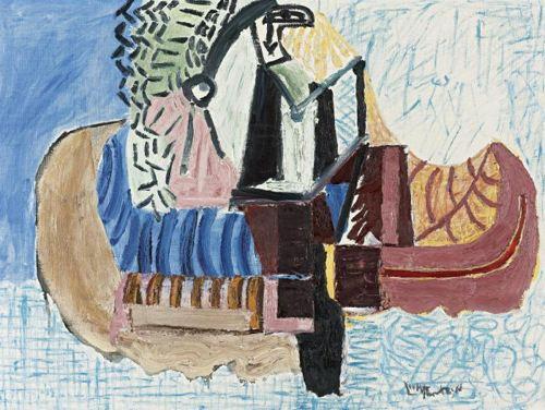 Roy Lichtenstein-Indian Paddling Canoe-1958