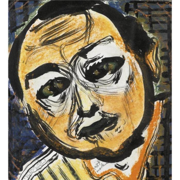 Marlene Dumas-Portrait of Peter Drew-1987
