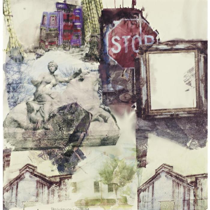 Robert Rauschenberg-Robert Rauschenberg - Stop - Pied (Anagrams (A Pun))-1998