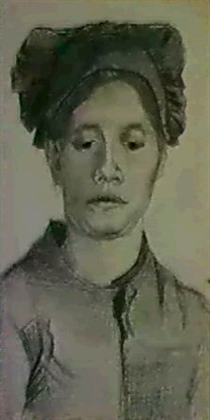 Vincent van Gogh-Head of a peasant woman : full face-1884