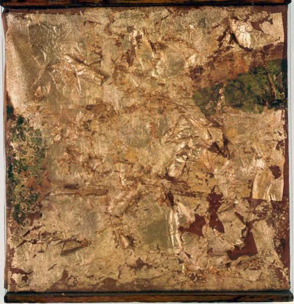 Robert Rauschenberg-Robert Rauschenberg - Untitled (Gold Painting)-1953