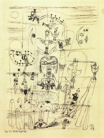 Paul Klee-Fatales Fagott Solo (Fatal Bassoon Solo)-1918