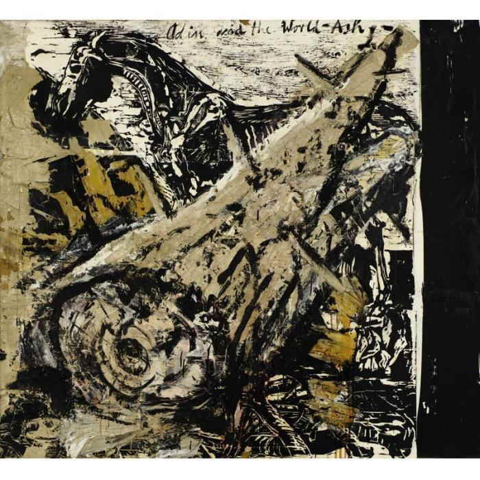 Anselm Kiefer-Odin and the World-Ash-1981