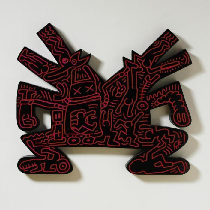 Keith Haring-Keith Haring - Red relief-1983