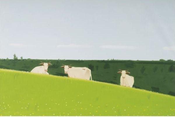 Alex Katz-Three Cows-1981