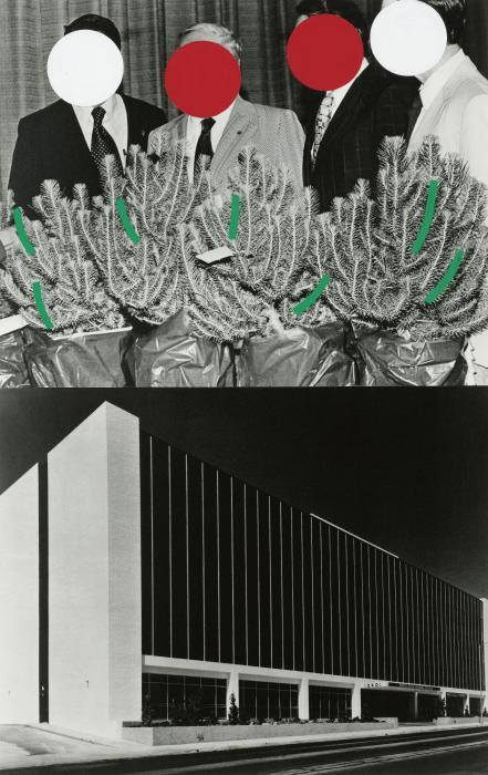 John Baldessari-Landscape with Four Men-1988