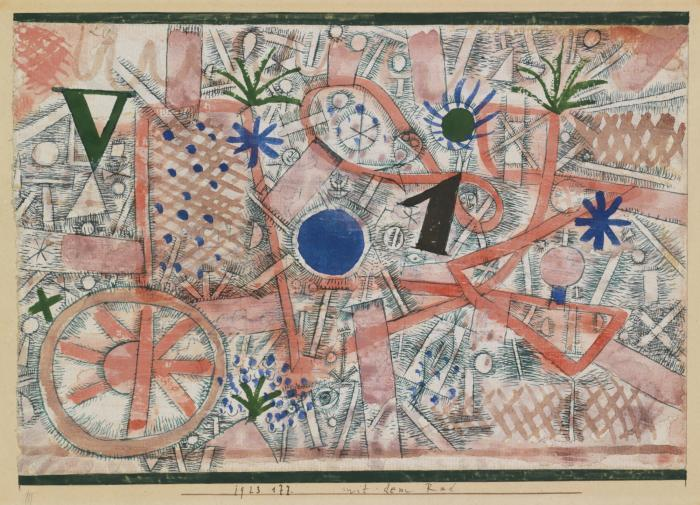 Paul Klee-Mit Dem Rad (With The Wheel)-1923