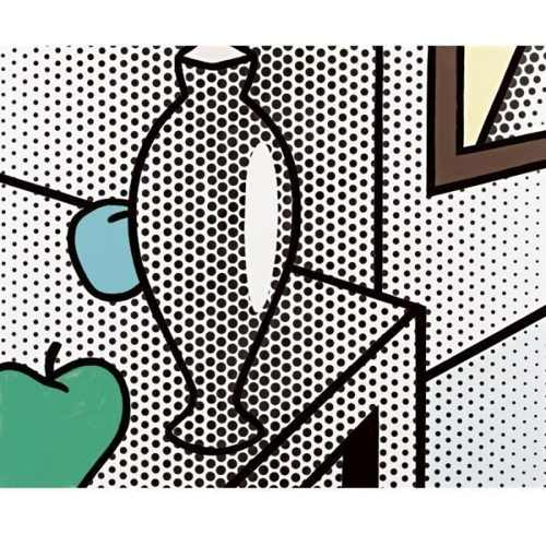 Roy Lichtenstein-Still Life with green Apple-1994