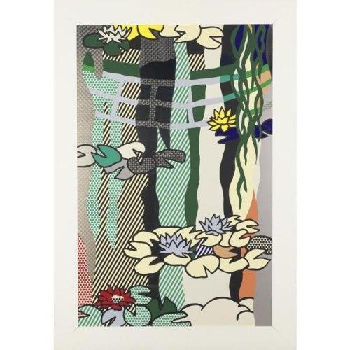 Roy Lichtenstein-Water Lilies with Japanese Bridge-1992