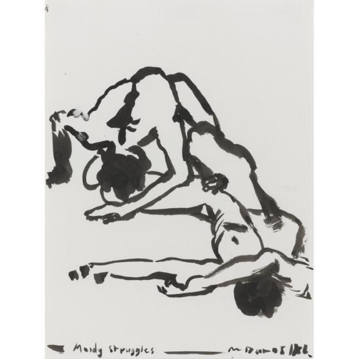Marlene Dumas-Manly Struggles-1986