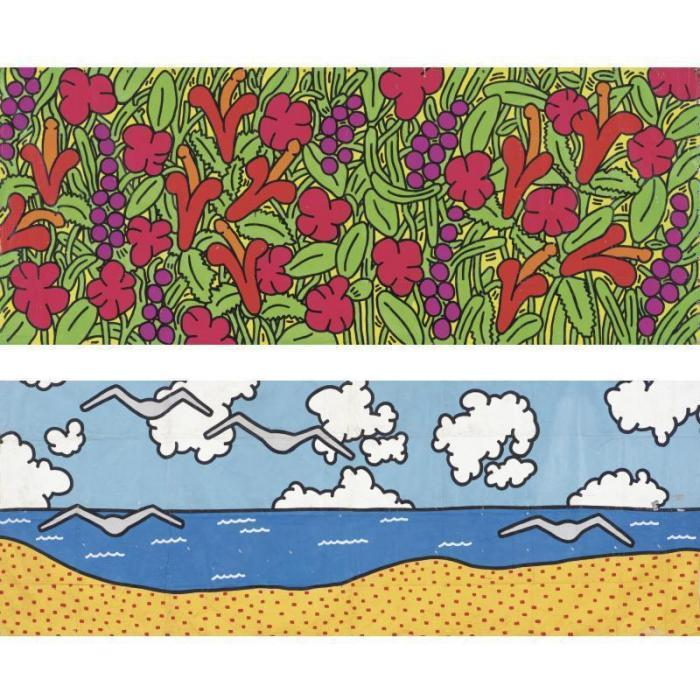 Keith Haring-Keith Haring - The Garden of Radio Delight, the Beach-1984