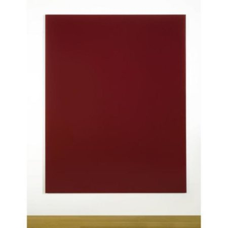 Gerhard Richter-Spiegel, Blutrot (Mirror, Blood Red)-1991