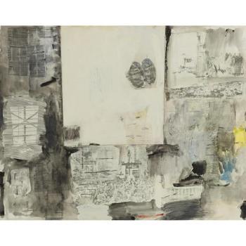 Robert Rauschenberg-Robert Rauschenberg - Untitled-1958