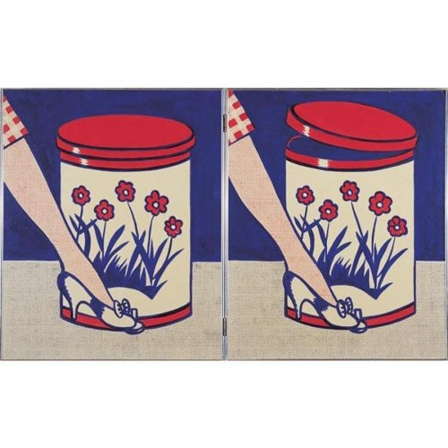 Roy Lichtenstein-Step-on Can with Leg-1961