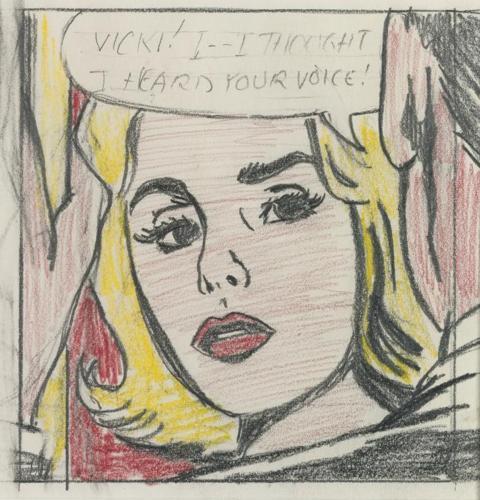 Roy Lichtenstein-Vicki ! I - I Thought I Heard Your Voice ! (Study)-1964