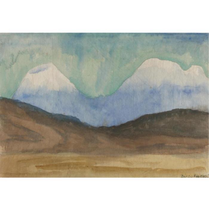 Diego Rivera-Popocatepetl and Iztaccihuatl-1931