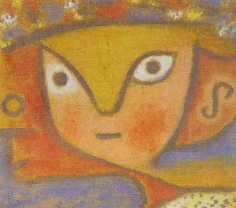 Paul Klee-Blumen Madchen (Flower Girl)-1940