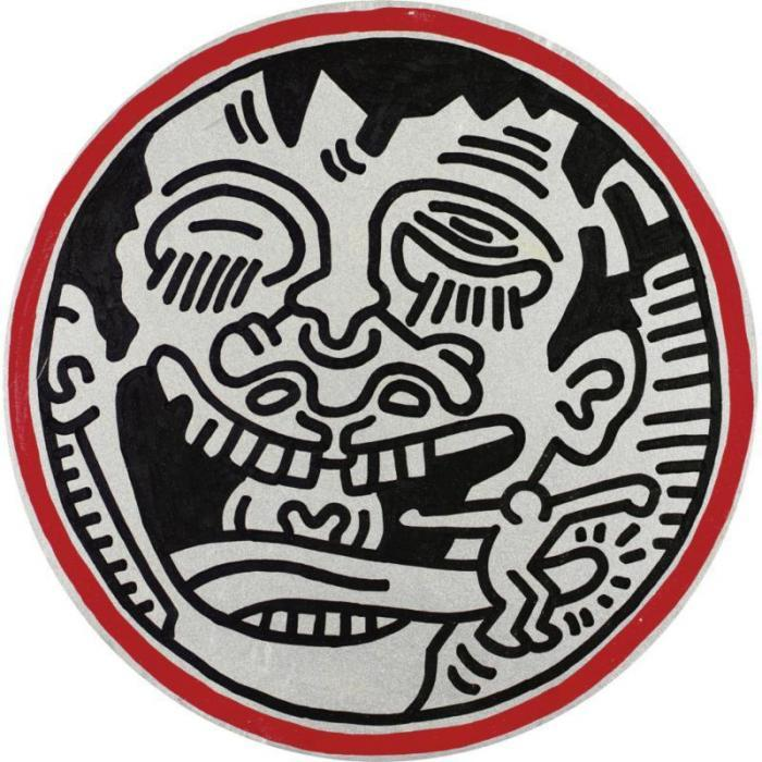 Keith Haring-Keith Haring - Portrait of Benny Soto-1985