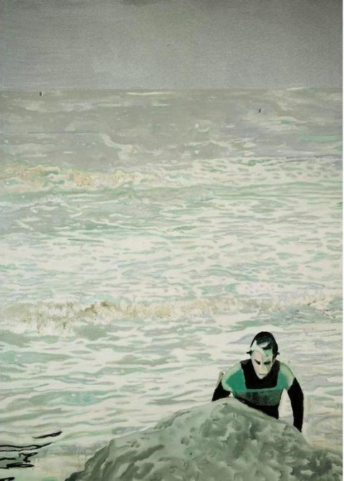 Peter Doig-Figure in the Surf-2000