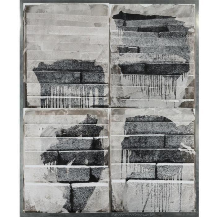 Robert Rauschenberg-Robert Rauschenberg - From the Bleacher Series: Chinese Steps II-1988