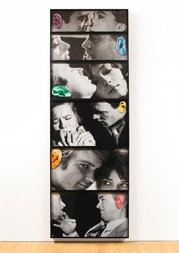 John Baldessari-Noses & Ears, Etc. (Part Four): Twelve Persons (Six Altered)-2007