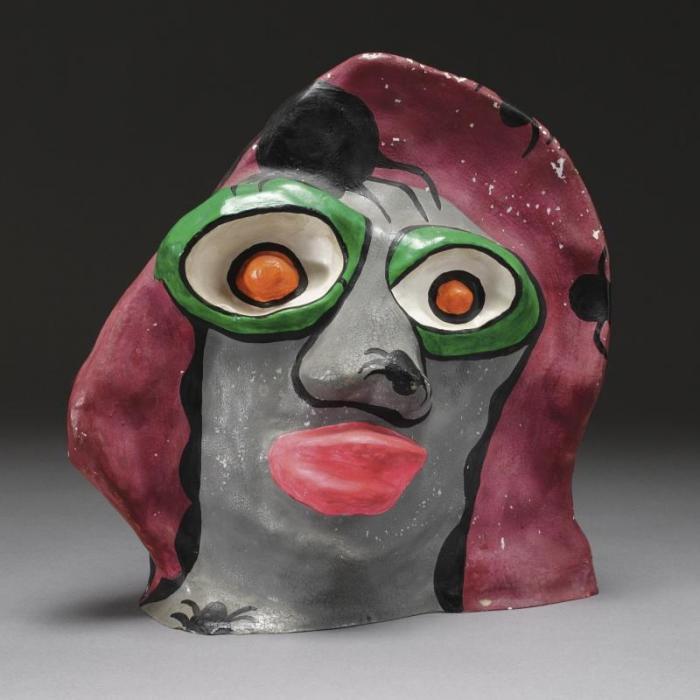 Niki de Saint Phalle-Tete de nana (Tete grise)-1971