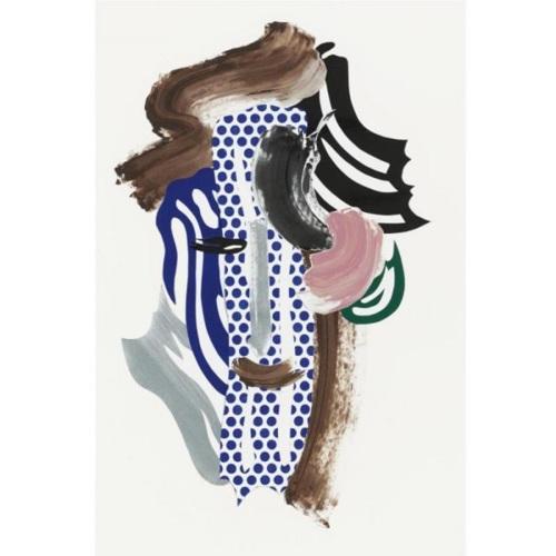 Roy Lichtenstein-Collage for Portrait-1986