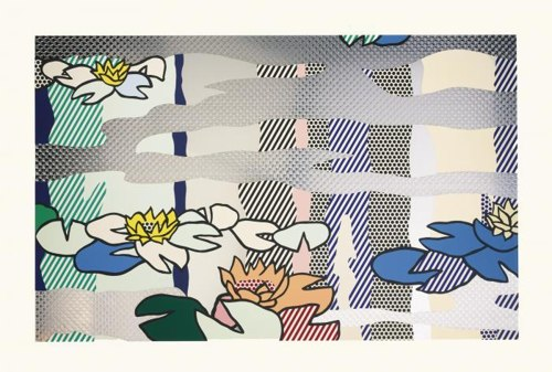 Roy Lichtenstein-Water Lily Pond with Reflections-1992