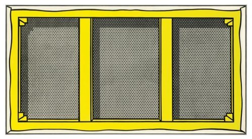 Roy Lichtenstein-Stretcher Frame with Vertical Bars-1968