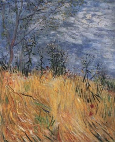 Vincent van Gogh-Edge of a wheatfield-1887