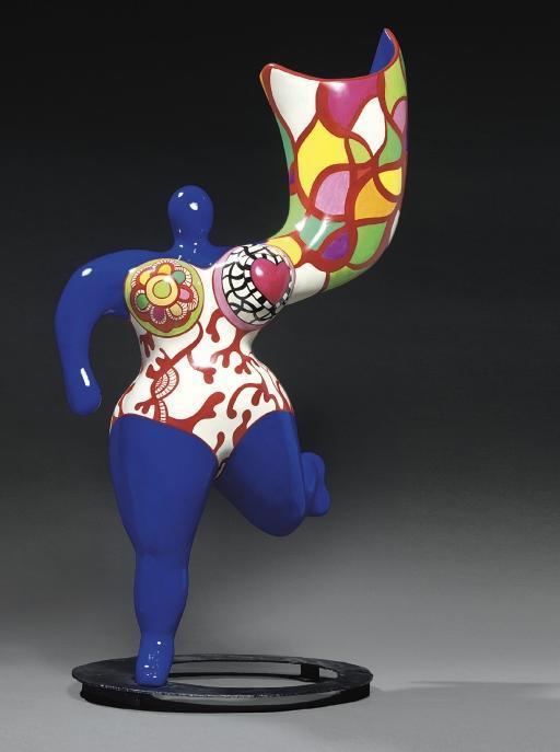 Niki de Saint Phalle-Angel Vase (Bleu), (L'ange Vase), (L'ange luminaire)-1993
