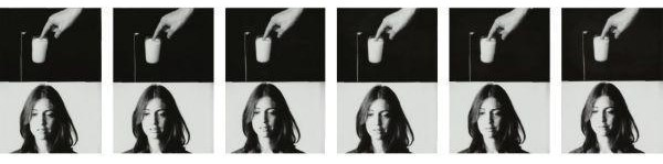 John Baldessari-Action / Reaction Series (Synchronized): Putting a Finger in Milk-1975