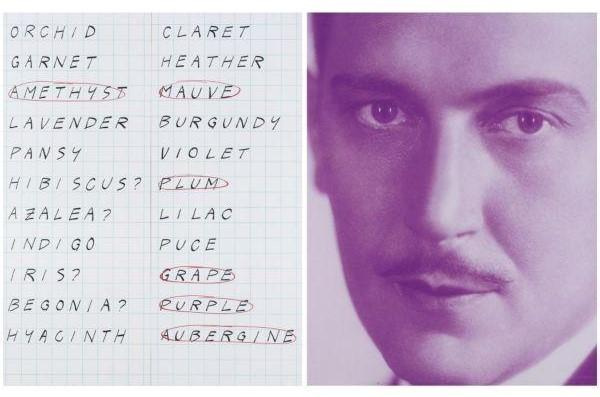 John Baldessari-Prima Facie (Fourth State): Purple and Et Cetera-2005