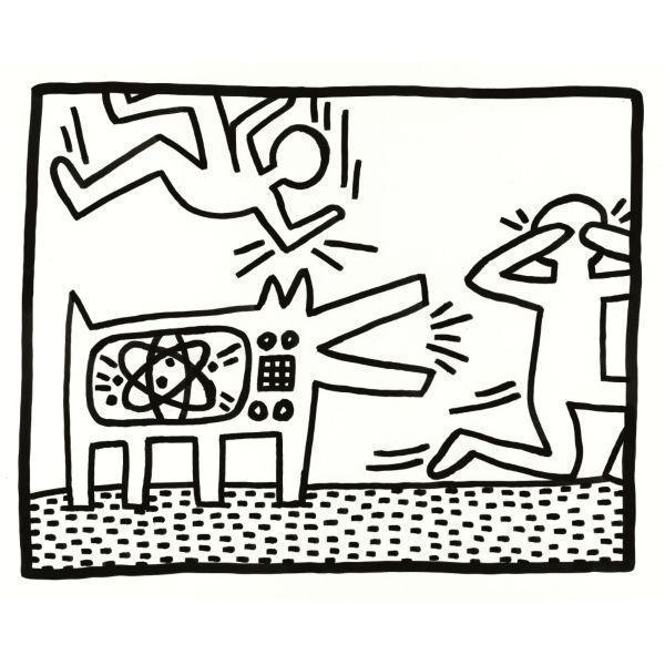 Keith Haring-Keith Haring - Barking Dog-1982