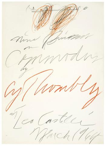 Cy Twombly-Poster Study For Nine Discourses On Commodus By Cy Twombly At Leo Castelli-1964