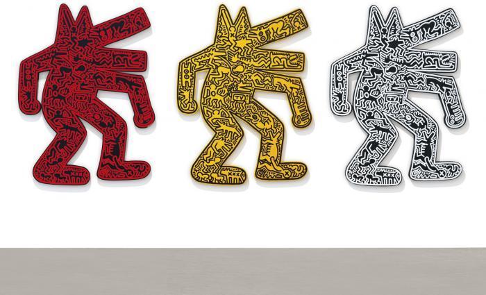Keith Haring-Keith Haring - Dog (Three Works)-1986